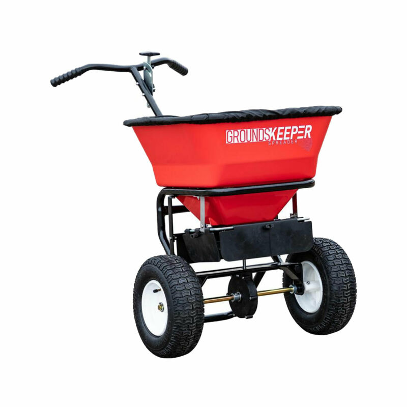 Buyers Products Groundskeeper 100 Pound Capacity Seed Fertilizer Salt Spreader