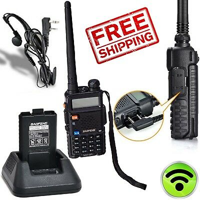 (Police Radio Scanner Handheld Digital Two Way Portable VHF Dual-Band Transceiver)