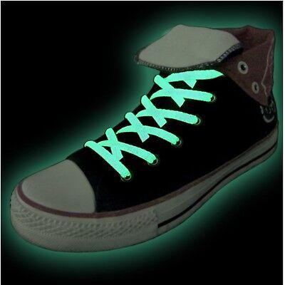 nkel Glow in the Dark leuchten im Dunklen grün Schuhbänder (Grünes Leuchten Schuhe)