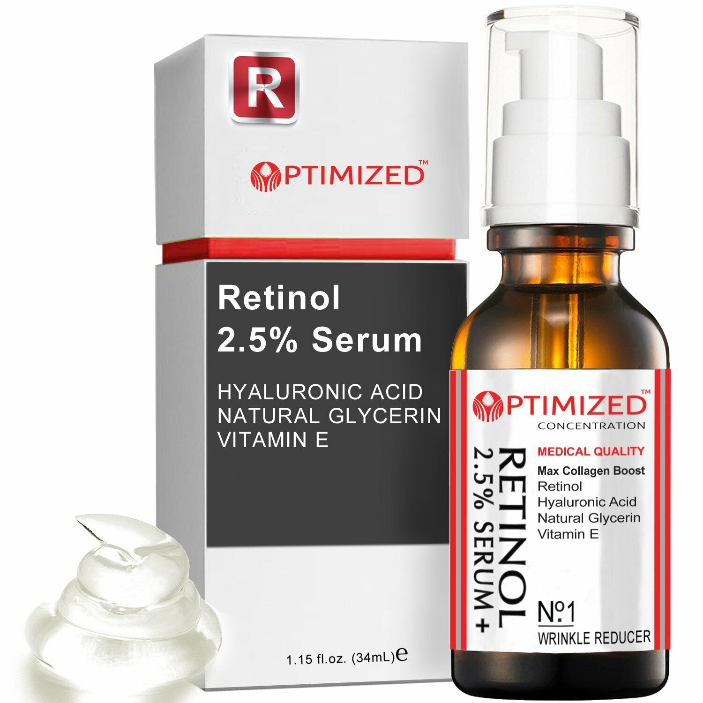Retinol Serum 2.5% with Hyaluronic Acid, Glycerin, Vitamin E