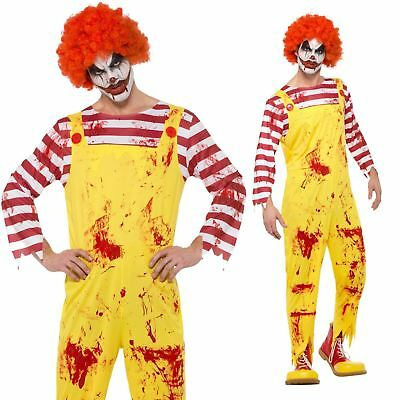 Ronald Mcdonald Killer Clown Halloween Scary Herren Clowns - Scary Clown Overall
