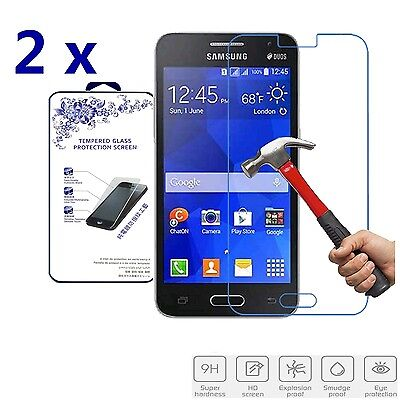 2x For Samsung Galaxy Core 2 G355M G355 Premium Tempered Glass Screen Protector