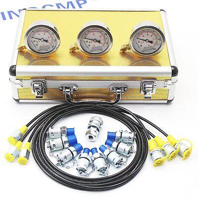 Sinocmp Hydraulicpressuregauge Test Kit Excavator Diagnostic Tool 2 Year Wty