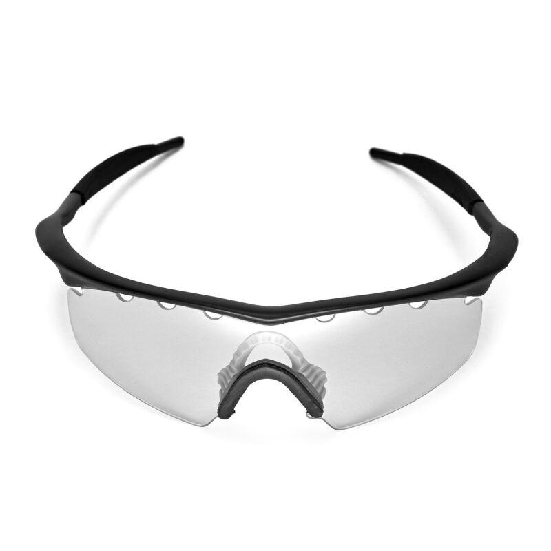 5d11effd9e ... Walleva Clear Vented Replacement Lenses For Oakley M Frame Strike  Sunglasses ...