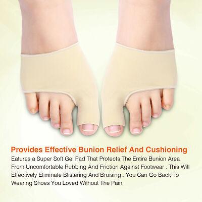 One Pair FootTrek Fabric Gel Toe Bunion Pad Protector Straightener Corrector