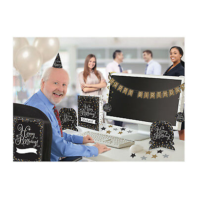Office Birthday Decorations (9 Piece Office Happy Birthday Party Desk Room Decorating Kit TO)