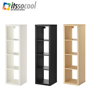 Ikea kallax shelf shelving unit 4 shelves book case 3 different colours ebay - Kallax 4 cases ...