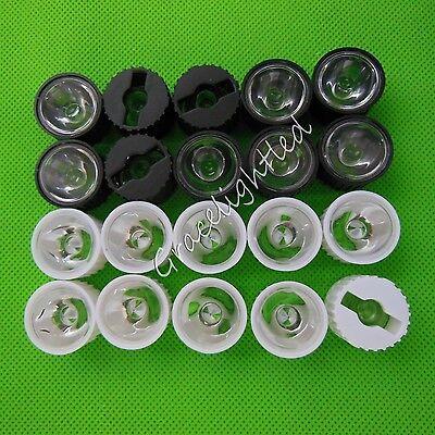 456090120led Lens For 1w 3w 5w Hight Power Led With 20mm Blackwhite Holder
