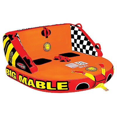 Sportsstuff Inflatable Big Mable Sitting Double Rider Towable Boat and Lake