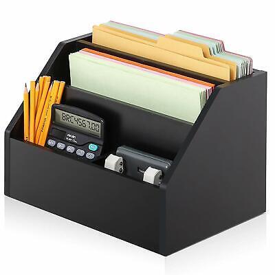 Fitueyes 4-tiers Wood Desk Organizer Mini Shelf Storagefor Home Office
