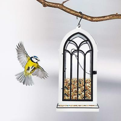 Outdoor Wild Bird Feeder Squirrel Proof Garden Seed Food Tree Hanging Patio