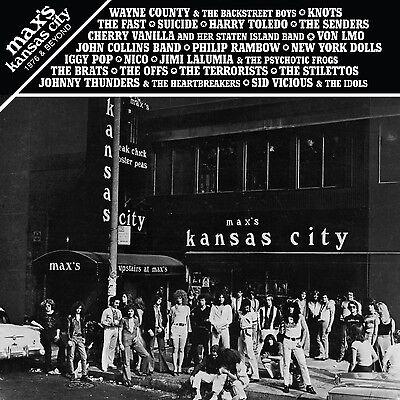 MAX'S KANSAS CITY 1976 & BEYOND 2LP vinyl Suicide Wayne County Dolls Fast Nico