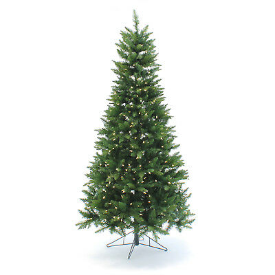 Perfect Holiday Pre-Lit Slim Christmas Tree 9 feet w/ 1000 LED Warm White 9' Slim Christmas Tree