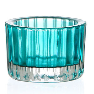 Solo Ribbed Vintage Retro Glass Wedding Candle Tealight Tea Light Holders