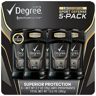 Degree Sport Defense Antiperspirant Deodorant 2 7 Oz  5 Count
