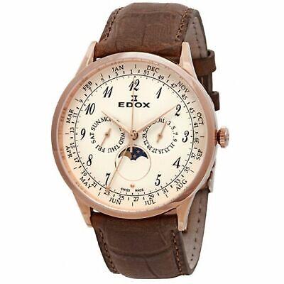 Edox 40101 37RC BEBR Men's Les Vauberts White Quartz Watch