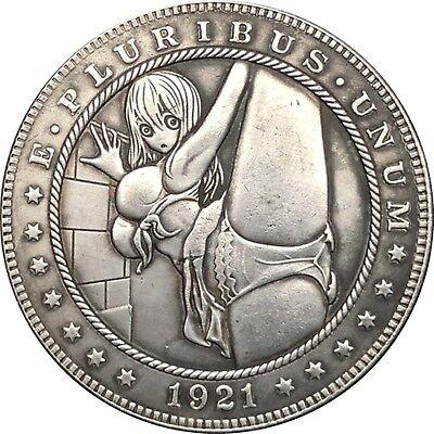 Hobo Nickel  1921-D USA Morgan Dollar Hot Girl COIN