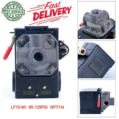 Air Compressor Pressure Switch Control 95 125 Psi 4 Port Unloader Valve Npt Type
