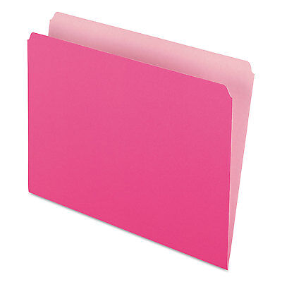 Pendaflex Colored File Folders Straight Cut Top Tab Letter Pinklight Pink 100