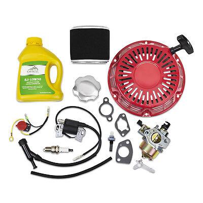 Kit For Honda GX340 GX390 Recoil Carburetor Ignition Coil Spark Plug Air Filter
