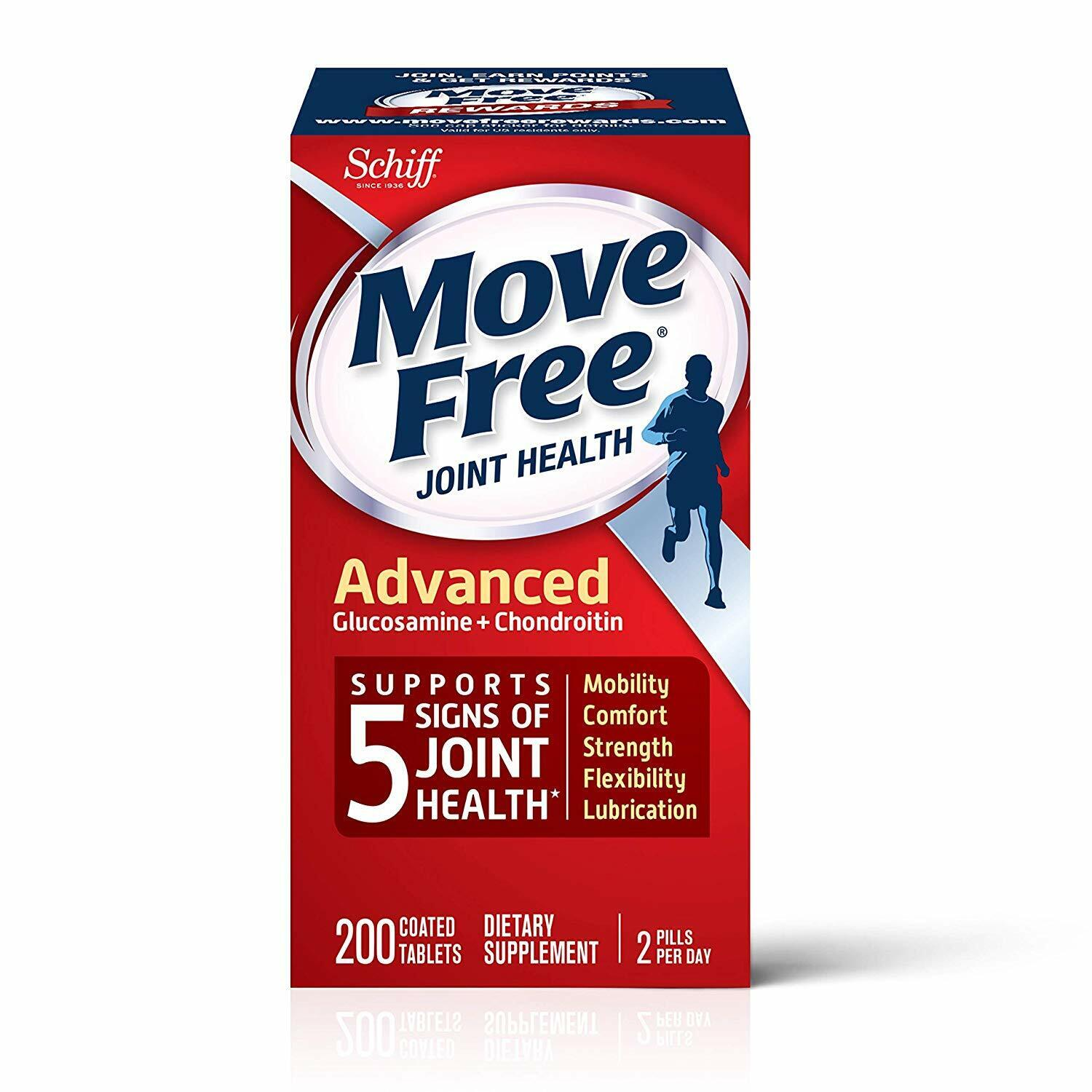 Move Free Advanced Join Health Supplement-Glucosamine,Chondr