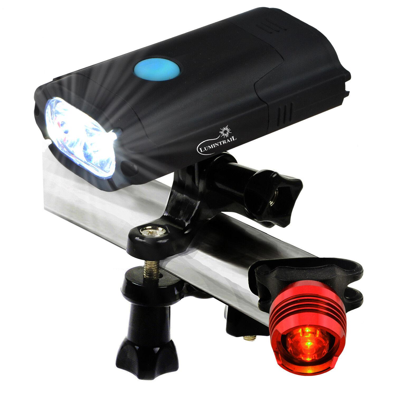 Купить Lumintrail - Lumintrail USB Rechargeable 800 Lumen LED Bike Light with Free Tail Light