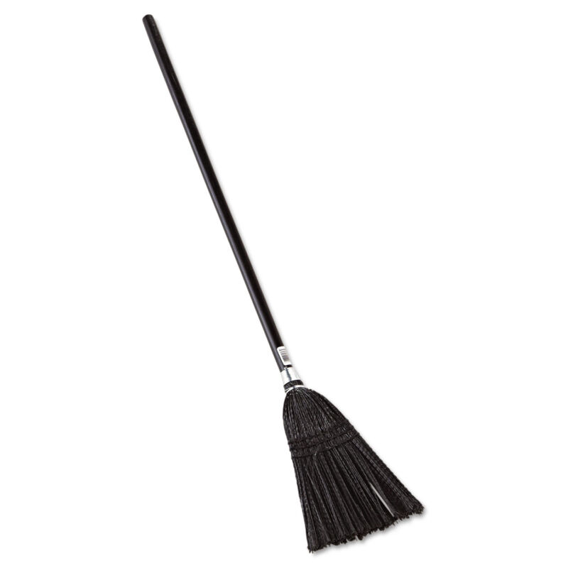 """Rubbermaid Commercial Lobby Pro Synthetic-Fill Broom 37 1/2"""" Height Black 2536"""