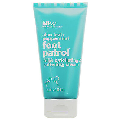 Bliss Foot Patrol AHA Exfoliating Softening Cream 2.5 fl oz (Aha Exfoliating Foot Cream)