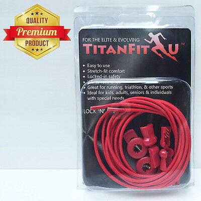 TitanFit4U Lock 'N' Clip Laces - Premium Elastic No Tie