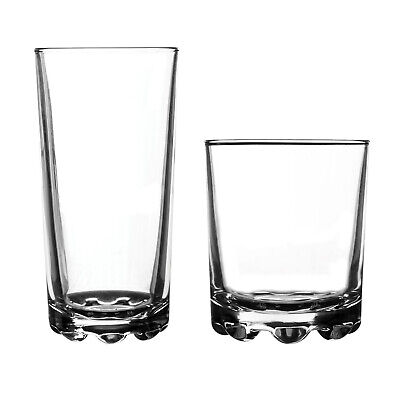 Ravenhead Hobnobs 12 Piece Drinking Glass Set Tumbler Highball Glasses Glassware