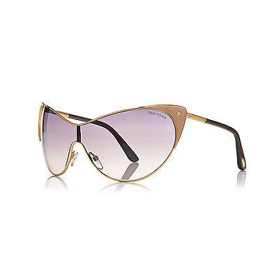 TOM FORD Damen Cat Eye Sonnenbrille VANDA FT0364S 74B Rosegold Grau verlauf NEU