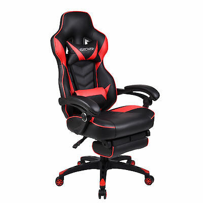 Recliner Office Racing Gaming Chair High Back Ergonomic Computer Desk Seat Red