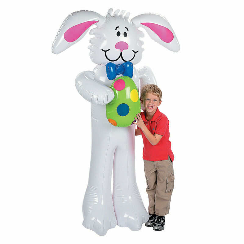 """Jumbo Inflatable Easter Bunny - 67"""" Tall - Large Party Decor - Toys - 1 Piece"""