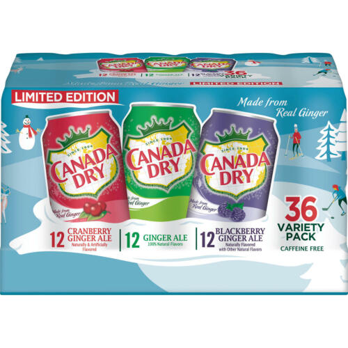 Canada Dry Winter Variety Pack (12oz / 36pk)