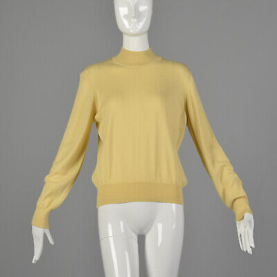80s Sweatshirts, Sweaters, Vests | Women L Kasha de Rodier 1980s Lightweight Cream Mockneck Sweater Fall 80s VTG $102.00 AT vintagedancer.com