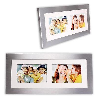 Bilderrahmen Fotorahmen 20 x 42,5 cm aus gebürstetem Metall