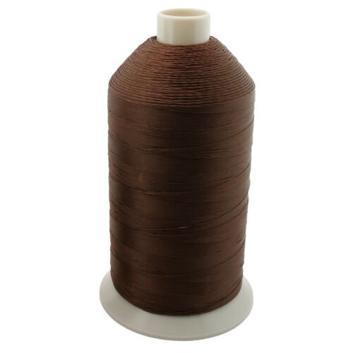 Brown Bonded Nylon Upholstery Thread Size 138, Tex 135, 16 Oz. 3000 Yards