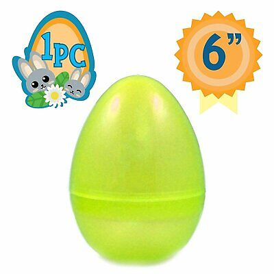 Jumbo Fillable Easter Eggs (Totem World 6-Inch Jumbo Fillable Plastic Easter Egg Hunt Party Supply)