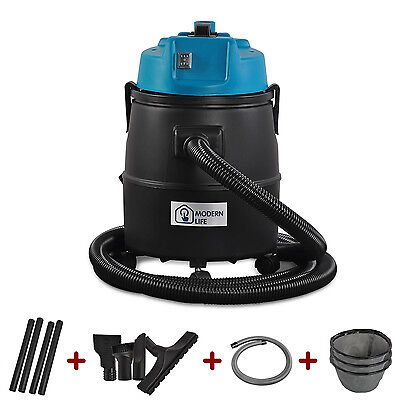Teichsauger 30L Schlammsauger Trockensauger Filter Pool Reiniger Sauger 1800W