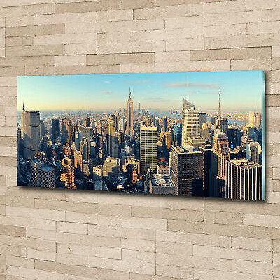 Glas-Bild Wandbilder Druck auf Glas 125x50 Deko Sehenswürdigkeiten Wolkenkratzer