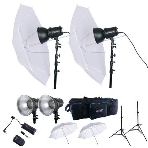 400W Strobe Flash Monolight Kit Photo Studio Photography Lighting with Carry Bag