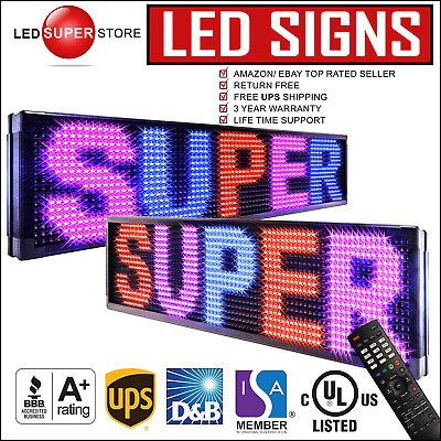 Led Super Store 3crbpir2f 15x40 Programmable Scroll. Message Display Sign
