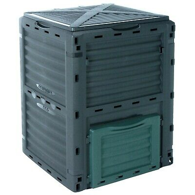 300 Litre Garden Composter Bin Composting Waste Box Recycling Eco Storage