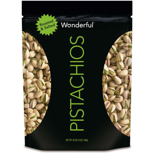 Wonderful Pistachios, Roasted and Salted (48 oz.) Free Shipping