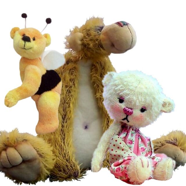 Teddy Bear Soft Toy Sewing Patterns - Three Cuddles to Sew in One ...