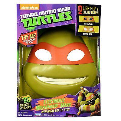 Teenage Mutant Ninja Turtles MICHELANGELO ELECTRONIC MASK NINJA BATTLE EYES TALK - Ninja Turtle Eye Mask