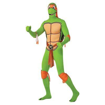 Adult Michelangelo Ninja Turtle Skin Suit Costume Size Medium](Adult Ninja Turtle)