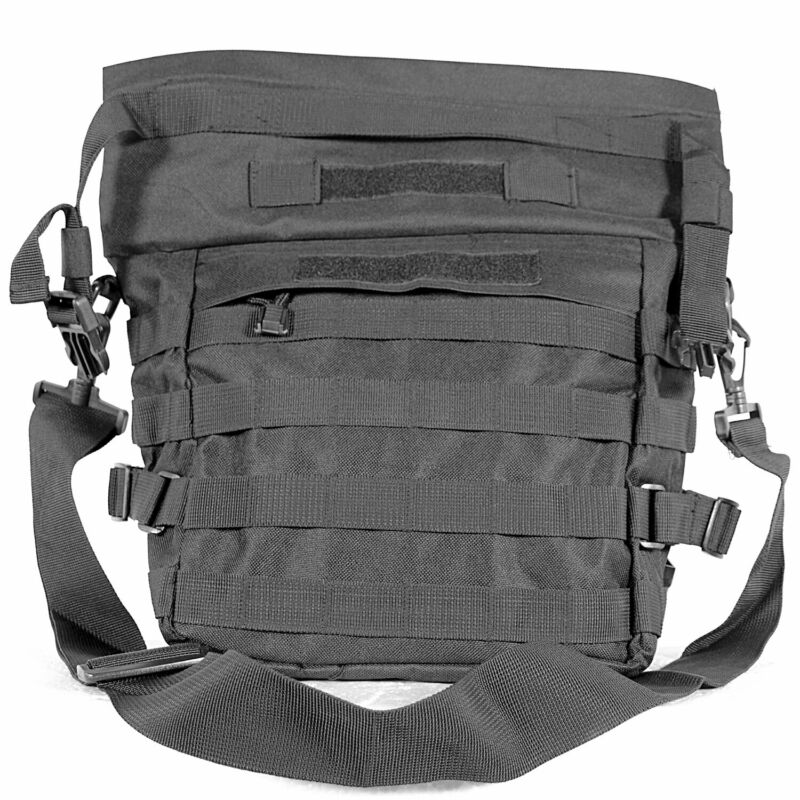 MetalTac Tactical Bag Satchel Black Molle  Outdoor Camping Airsoft Paintball