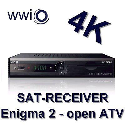 WWIO Satellitenreceiver BRE2ZE 4K (4K - openATV - SAT IP, 2 x USB, HDMI-Kabel) online kaufen