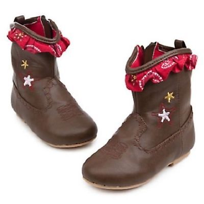 Disney Store Jessie Cowboy Boots Baby Infant Toddler Toy Store Costume Leather